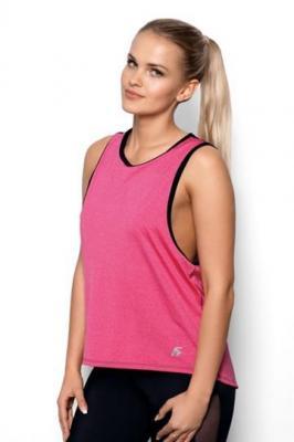 Koszulka Fit Abel Różowo-czarna