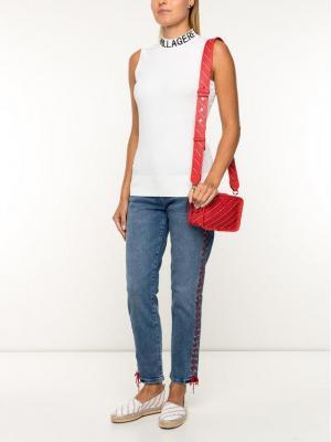 KARL LAGERFELD Jeansy Slim Fit Girlfriend Denim W/ Lacing 91KW1801 Niebieski Slim Fit