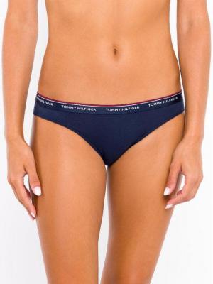 Tommy Hilfiger Komplet 3 par fig klasycznych 3P Bikini UW0UW00043 Granatowy