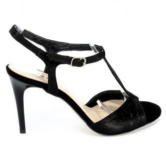 Sandały Lucca 38085/1 Czarna Satyna