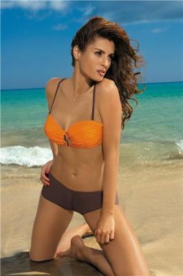 Kostium kąpielowy Tiffany Energy-Cubano M-319 Pomarańczowo-brązowy (108)