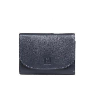 portfel skórzany ciemno granatowy