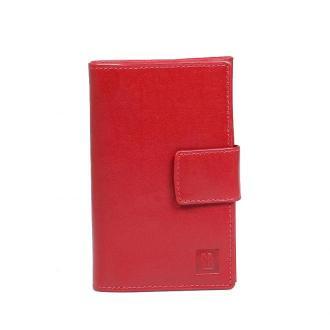 portfel skórzany czerwony