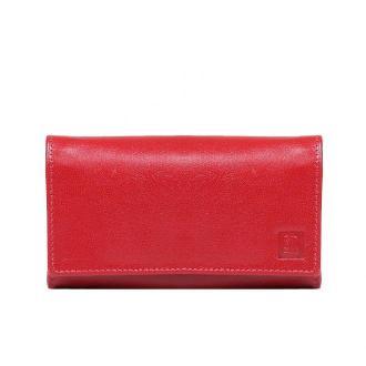 portfel skórzany damski czerwony