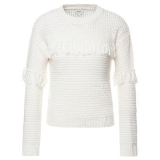 Pepe Jeans Sweter Dina PL701495 Biały Regular Fit