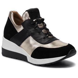 Sneakersy EKSBUT - 5702-136/G45/155/121-1G Czarny Złoty