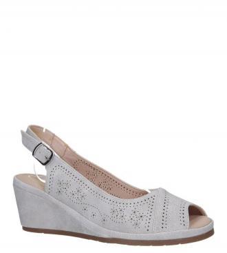 Szare sandały ażurowe