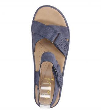 Granatowe sandały płaskie