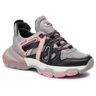 Sneakersy BRONX - 66285-AL BX 3251 Black/Grey/Blush 3251