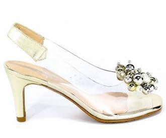 Sandały Brenda Zaro T3448 Vinilo Gold