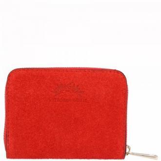Uniwersalne Skórzane Portfele Damskie firmy VITTORIA GOTTI Czerwony (kolory)