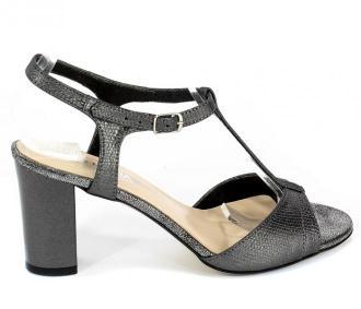 Sandały Lucca 3885 Szaro Srebrny