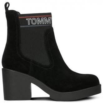 TOMMY HILFIGER CORPORATE ELASTIC SUEDE BOOT