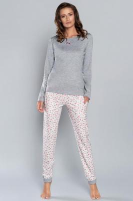 Italian Fashion Lena dł.r. dł.sp. Nocna piżama - melanż