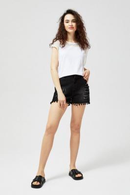 Szorty jeansowe typu high waist