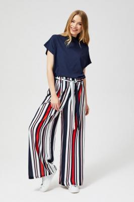 Szerokie spodnie w pasy