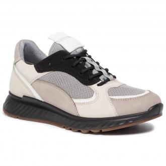 Sneakersy ECCO - St.1 W 83627351560  Moon Rock/White/Gravel/Black