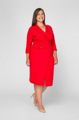 BRUNA RED minimalistyczna szmizjerka plus size : Rozmiar - 60/62