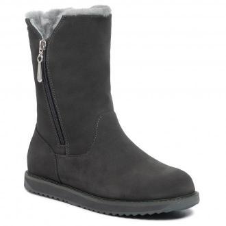 Botki EMU AUSTRALIA - Gravelly Leather W11561 Dark Grey