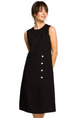 Minimalistyczna sukienka z dodatkiem lnu