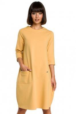 Wygodna sukienka oversize z kieszonką z przodu