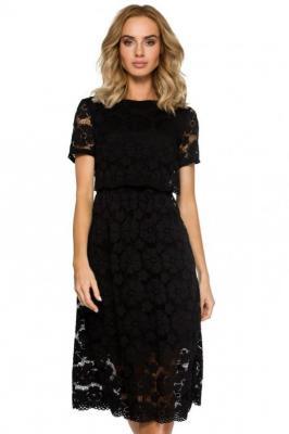 Koktajlowa wieczorowa koronkowa sukienka