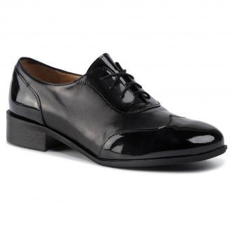 Oxfordy SAGAN - 3680 Czarny Lakier/Czarne Lico