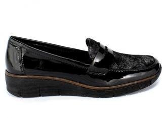 Półbuty Rieker 53732-01 Black Czarny