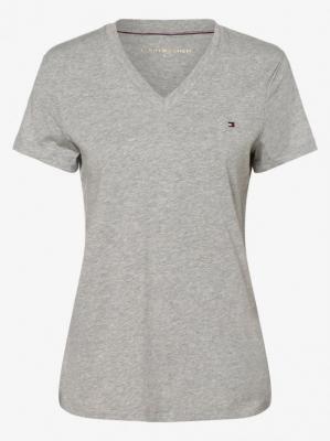 Tommy Hilfiger - T-shirt damski, szary