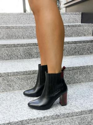 Czarne botki Tammy rosso