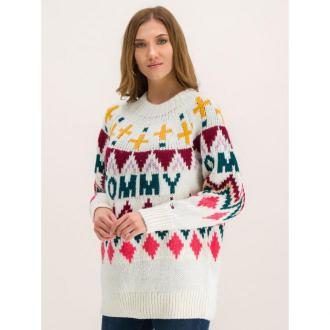 Tommy Jeans Sweter Tjw Fairisle DW0DW07188 Kolorowy Regular Fit