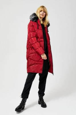 Płaszcz z odpinanym futerkiem