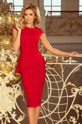 Elegancka ołówkowa sukienka z baskinką