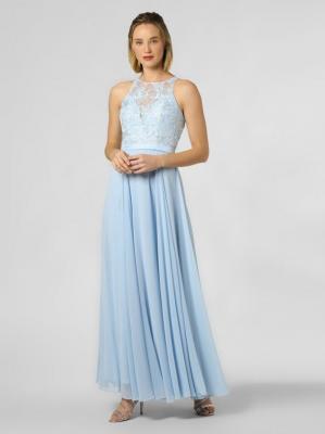 Luxuar Fashion - Damska sukienka wieczorowa, niebieski