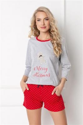 Piżama Cookie Short Grey-Red