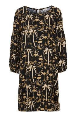 Cream Sukienka Palm  Czarny we wzory