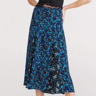 Reserved - Spódnica w kwiaty - Niebieski