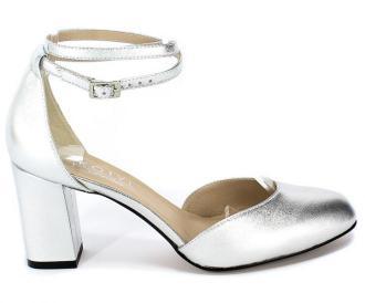 Sandały Kotyl 7105 Srebrny Jasny Skóra
