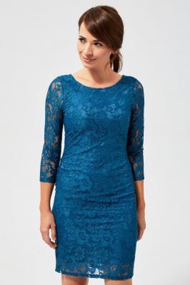 Sukienka koronkowa z wiązaniem