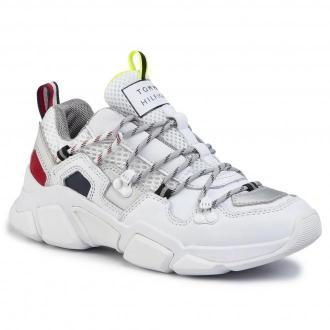 Sneakersy TOMMY HILFIGER - City Voyager Chunky Sneaker FW0FW04610 White YBS