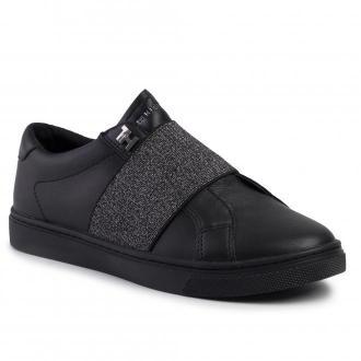 Sneakersy TOMMY HILFIGER - Slip On Elastic Casual Sneaker FW0FW04597 Black BLK