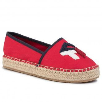 Espadryle TOMMY HILFIGER - Th Patch Espadrille FW0FW04633 Primary Red XLG