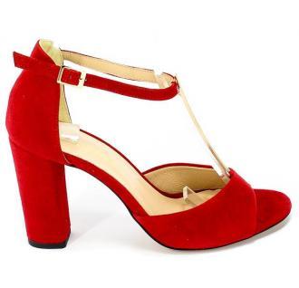 Sandały Uncome 24089 Rosso Czerwony Skóra
