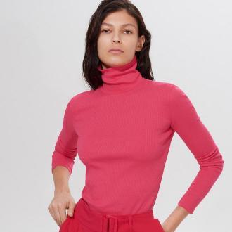 Mohito - Bawełniana bluzka z golfem -