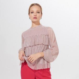 Mohito - Błyszcząca bluzka z falbanami -