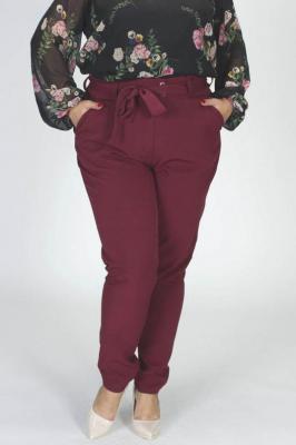 Spodnie eleganckie wiązane KOSTA bordowe