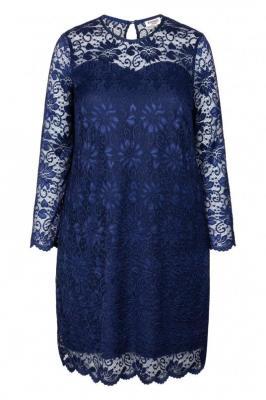 Sukienka karnawałowa koronkowa trapezowa plus size ARIADNA granat