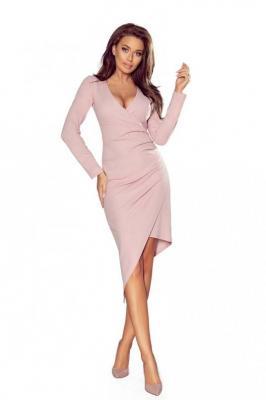 Asymetryczna Sukienka Kopertowa z Drapowaniem