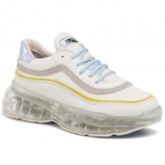 Sneakersy BRONX - 66332-AC O.White/Baby Blue/Lime