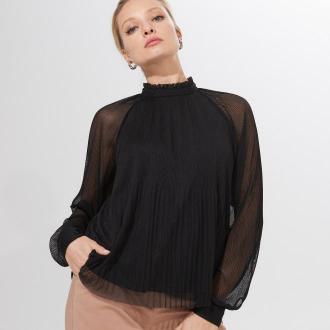 Mohito - Plisowana bluzka ze stójką -